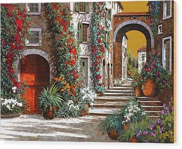 L'altra Porta Rossa Al Tramonto Wood Print by Guido Borelli