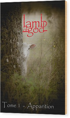 Lamb Of God Book Cover Wood Print by Loriental Photography
