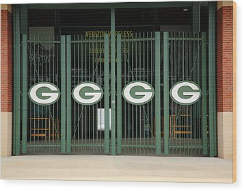 Lambeau Field - Green Bay Packers Wood Print