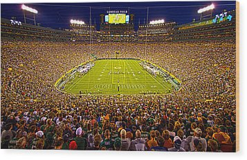 Lambeau Field Wood Print