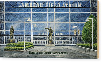 Lambeau Wood Print by Thomas Kuchenbecker