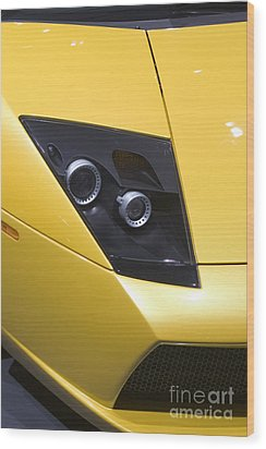 Wood Print featuring the photograph Lamborghini by Jim West