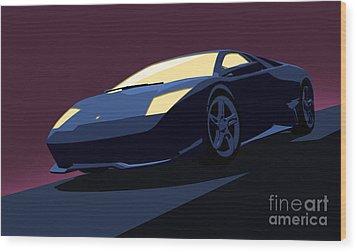 Lamborghini Murcielago - Pop Art Wood Print by Pixel  Chimp