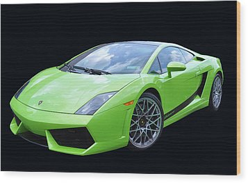 Lambourghini Salamone  Wood Print by Allen Beatty