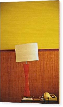 Lamp And Desk Wood Print by Jess Kraft