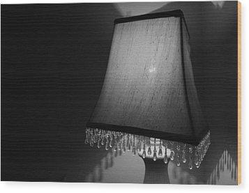 Lamp Shade Bw Wood Print