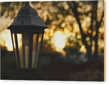 Wood Print featuring the photograph Lamplight by Photographic Arts And Design Studio