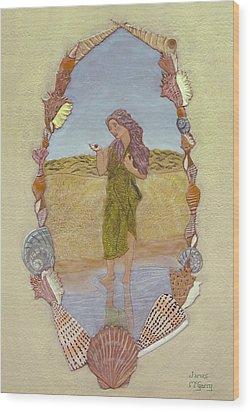 Lanassa Diva Of Molluscs  Wood Print by James McGarry Leather Artist