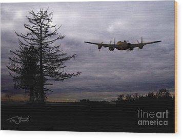 Lancaster Flight  Wood Print by Tom Straub