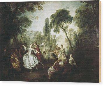 Lancret, Nicolas 1690-1743. La Camargo Wood Print by Everett