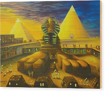Land Of Pharaohs Wood Print