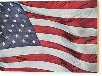 Land Of The Free Wood Print by JC Findley