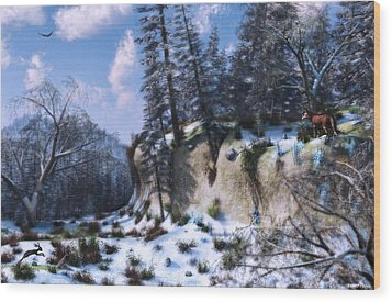 Land Of The Red Fox Wood Print by Ken Morris