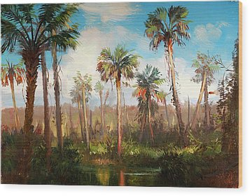 Land Of The Seminole Wood Print by Keith Gunderson