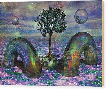 Land Of World 8624028 Wood Print by Betsy Knapp