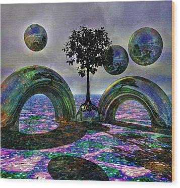Land Of World 8624030 Wood Print by Betsy Knapp
