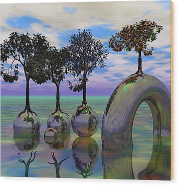 Land Of World 8624034 Wood Print by Betsy Knapp