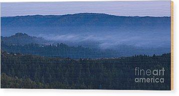 Land Spray In Russian Ridge Wood Print by Matt Tilghman