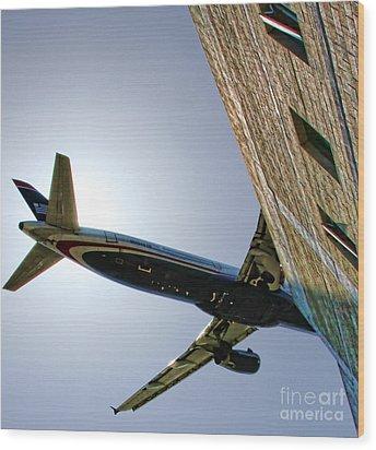 Landing By Diana Sainz Wood Print by Diana Sainz