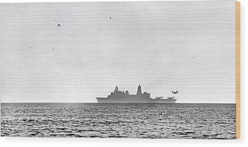 Landing On The Horizon Wood Print by Betsy Knapp