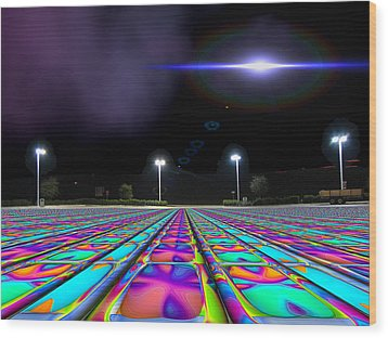 Landing Pad 5 A M Wood Print by Wendy J St Christopher