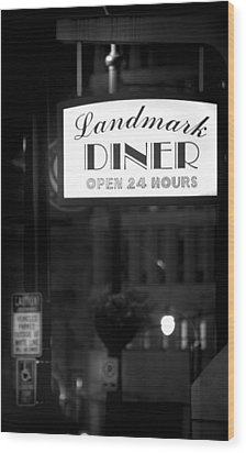 Landmark Diner Wood Print by Mark Andrew Thomas