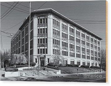 Landmark Life Savers Building II Wood Print by Clarence Holmes