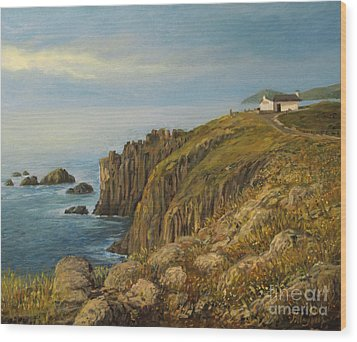 Land's End In Cornwall Wood Print by Kiril Stanchev