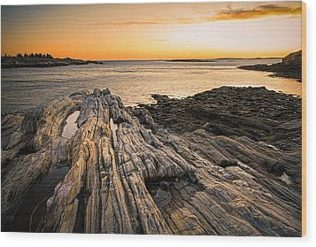 Lands End Wood Print by Robert Clifford