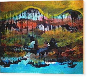 Landscape 121003-2 Wood Print by Aquira Kusume
