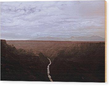 Landscape 17 A Taos Nm Wood Print by Otri Park