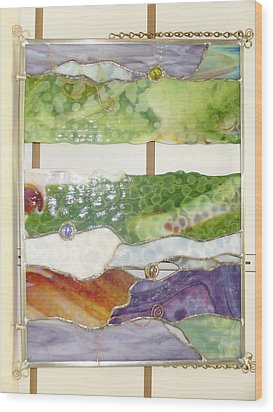 Landscape 2 Wood Print by Karin Thue