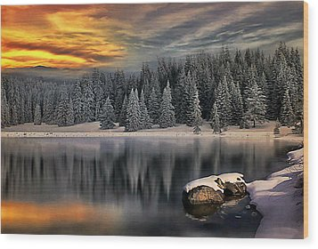 Wood Print featuring the photograph Landscape Art by Digital Art Cafe