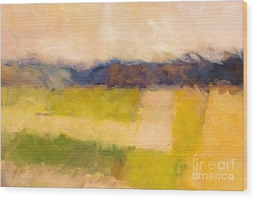 Landscape Impression Wood Print by Lutz Baar
