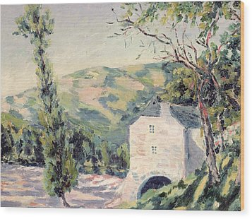 Landscape In Provence Wood Print by French School