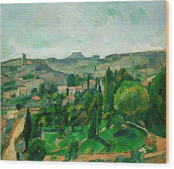 Landscape In The Ile-de-france Wood Print by Paul Cezanne