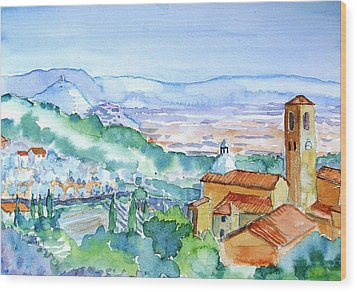 Tuscany Valley  Medieval Village Of Massa Wood Print