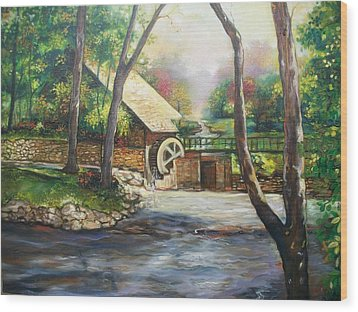Landscape Of Love Wood Print by Emery Franklin