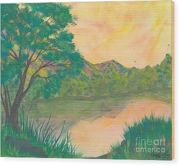 Landscape Of The Mind Wood Print by Denise Hoag