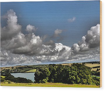 Landscape With Clouds Wood Print