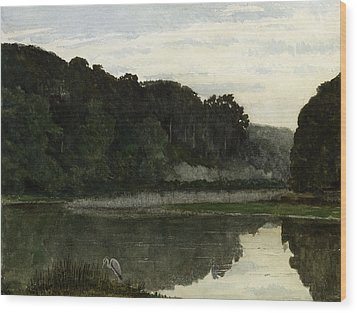 Landscape With Heron Wood Print by William Frederick Yeames