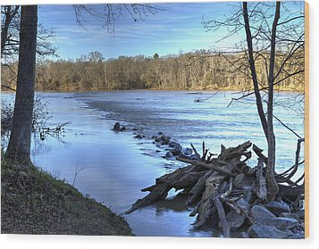 Landsford Canal-1 Wood Print by Charles Hite