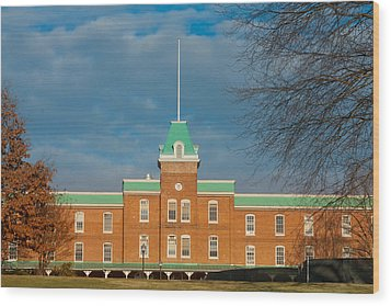 Lane Hall At Virginia Tech Wood Print