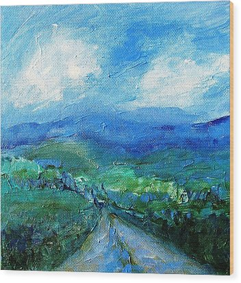 Lane To The Wicklow Hills Wood Print