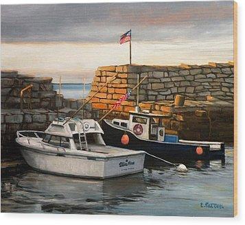 Lanes Cove Fishing Boats Wood Print