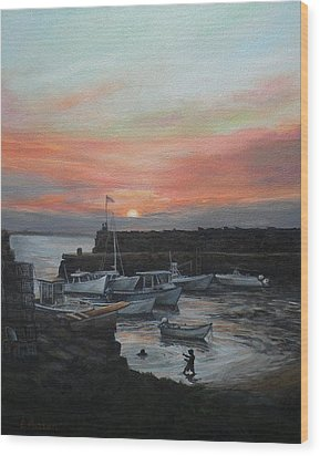 Lanes Cove Sunset Wood Print