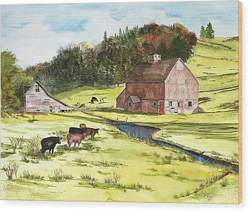 Lanesboro Barn Wood Print by Susan Crossman Buscho