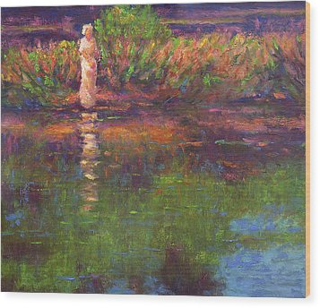 Langan Lake Reflections Wood Print