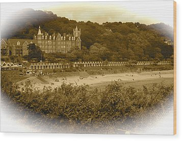 Langland Bay Gower Wales Wood Print by John Colley
