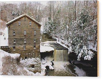 Lanterman's Mill In Winter Wood Print